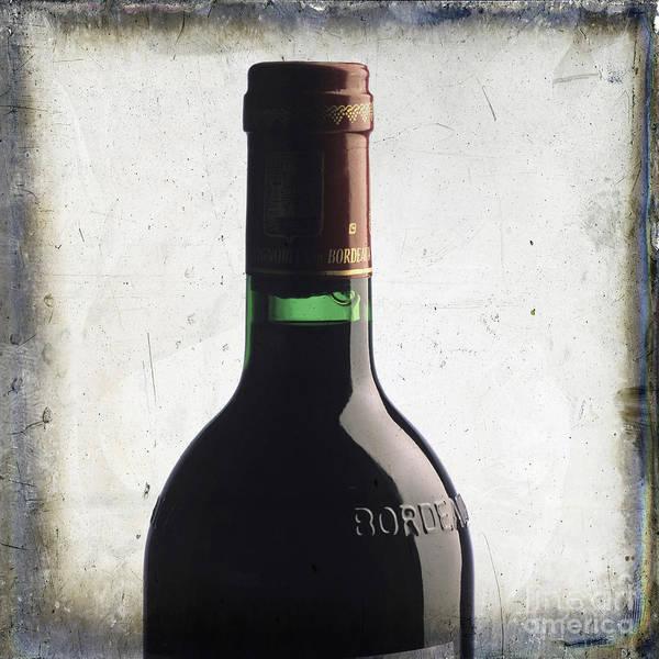 Studio Shot Poster featuring the photograph Bottle Of Bordeaux by Bernard Jaubert
