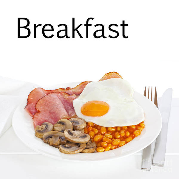 Breakfast Poster featuring the photograph Breakfast Concept by Colin and Linda McKie