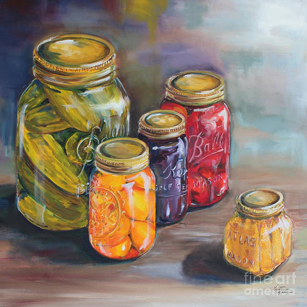 Canning Jars Poster featuring the painting Canning Jars by Kristine Kainer