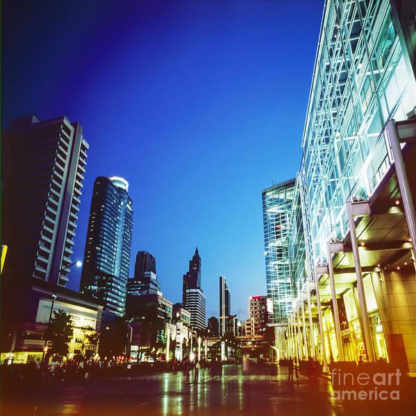 Bangkok Poster featuring the photograph City In Twilight by Setsiri Silapasuwanchai