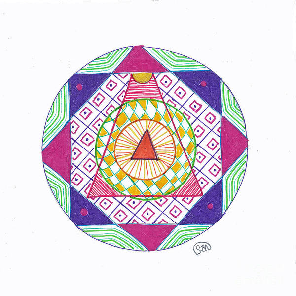 Mandala Poster featuring the drawing Destination by Signe Beatrice
