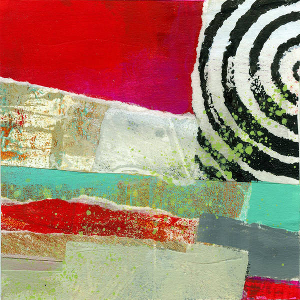 4x4 Poster featuring the painting Edge 49 by Jane Davies
