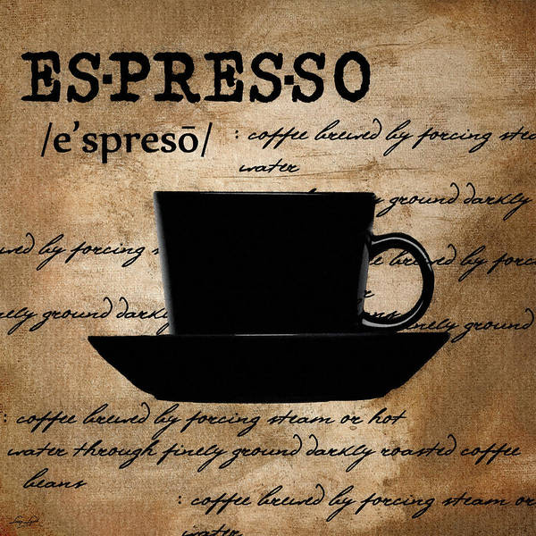 Espresso Poster featuring the digital art Espresso Madness by Lourry Legarde