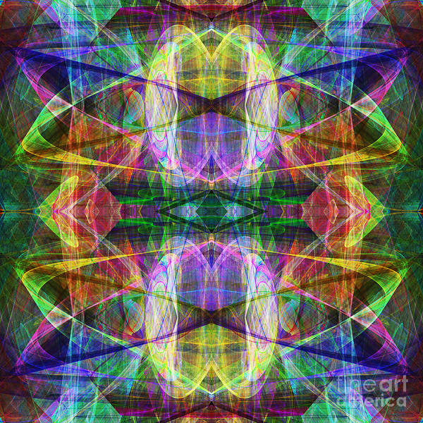 Fractal Poster featuring the photograph Fourth Dimension Ap130511-22-2b by Wingsdomain Art and Photography