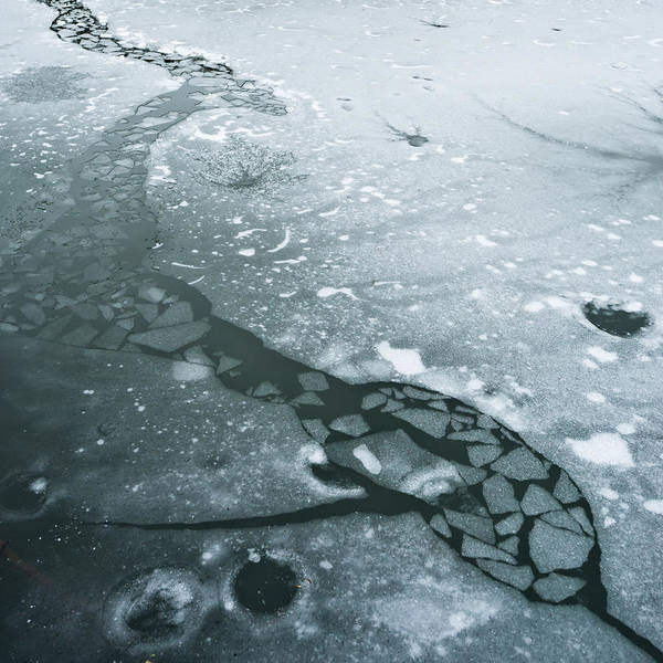 Icy Poster featuring the photograph Frozen Pond by Gary Eason