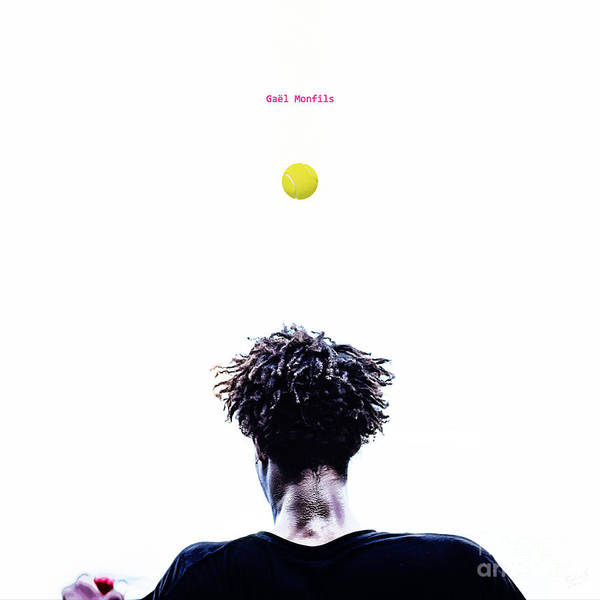 Gael Monfils Poster featuring the Gael Monfils by Nishanth Gopinathan