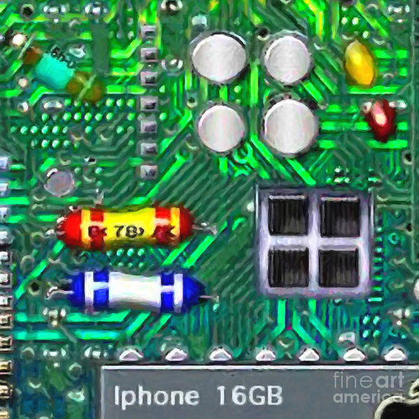 Circuit Board Poster featuring the photograph Iphone I-art Square by Wingsdomain Art and Photography