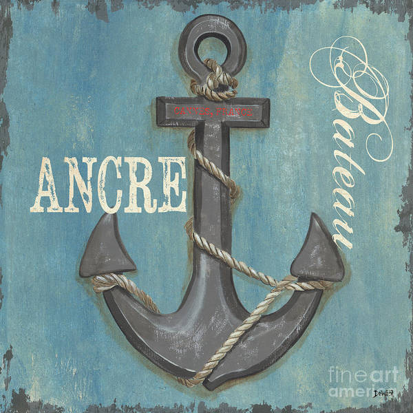 Coastal Poster featuring the painting La Mer Ancre by Debbie DeWitt