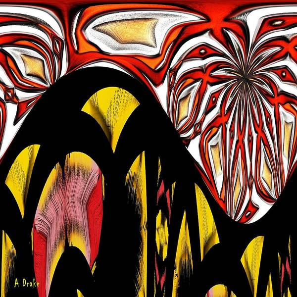 Lava Poster featuring the digital art Lava Flow by Alec Drake