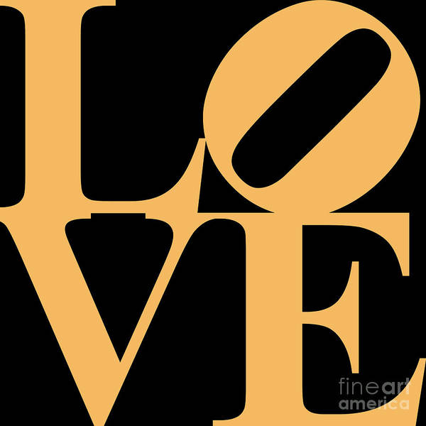 Love Poster featuring the digital art Love 20130707 Orange Black by Wingsdomain Art and Photography
