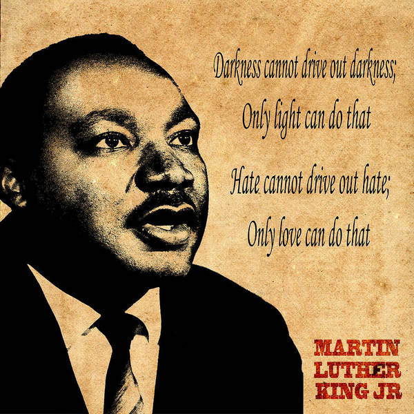 Martin Luther King Junior Poster featuring the photograph Martin Luther King Jr 1 by Andrew Fare