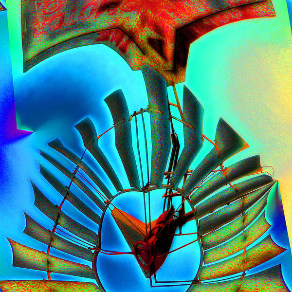 Windmill Poster featuring the digital art Milled Heart by Wendy J St Christopher