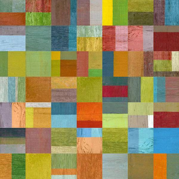 Abstract Poster featuring the digital art Multiple Exposures L by Michelle Calkins