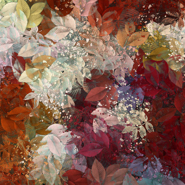 Abstract Poster featuring the digital art Naturaleaves - 88c02 by Variance Collections