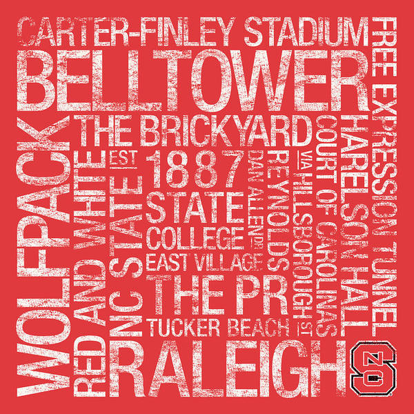 Photo Poster featuring the photograph Nc State College Colors Subway Art by Replay Photos