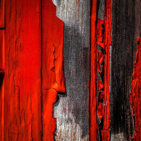Abstract Poster featuring the photograph Old Red Barn One by Bob Orsillo