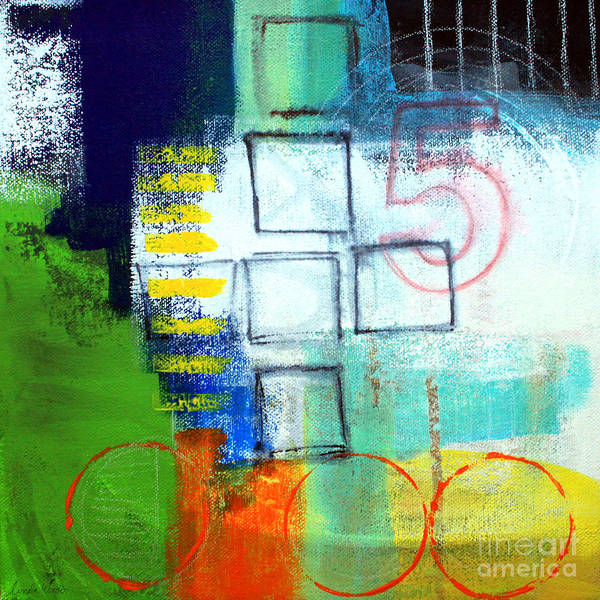 Abstract Poster featuring the painting Playground by Linda Woods