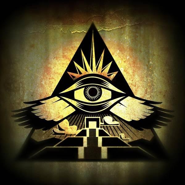 Third Eye Poster featuring the digital art Power Pyramid by Milton Thompson