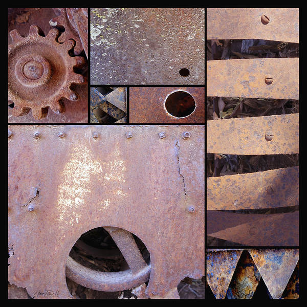 Rust Poster featuring the photograph Rust And Metal Abstract by Ann Powell