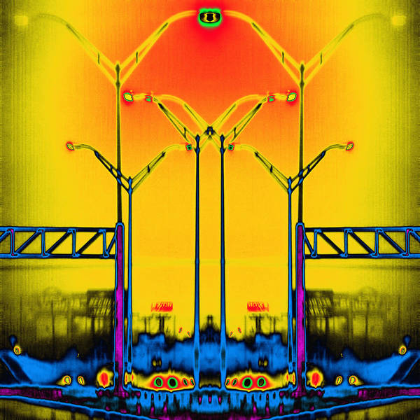 Streetlight Poster featuring the digital art Streetlight Serenade 4 by Wendy J St Christopher