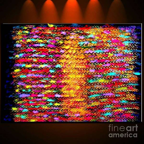 Oil Painting Poster featuring the painting Sunshine Magic - Abstract Oil Painting Original Metallic Gold Textured Modern Contemporary Art by Emma Lambert