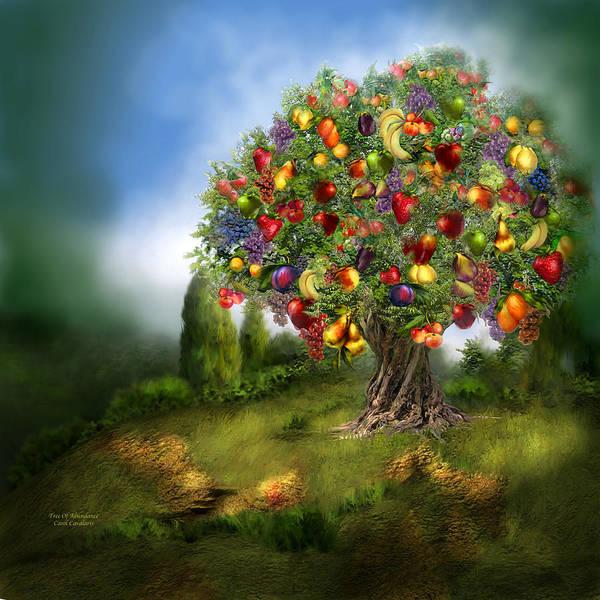 Tree Poster featuring the mixed media Tree Of Abundance by Carol Cavalaris