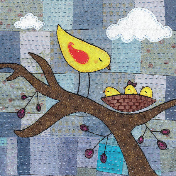 Boho Poster featuring the tapestry - textile Triplets by Julie Bull