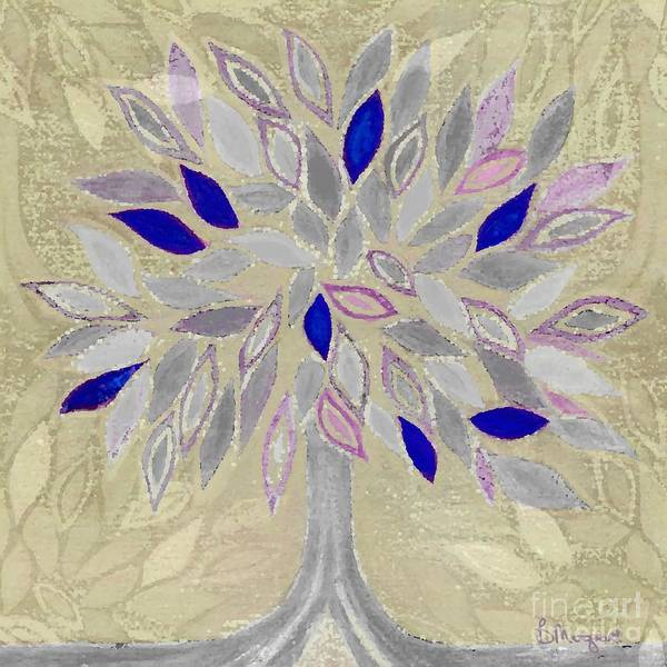 Tree Poster featuring the painting Winter Tree by Barbara Moignard