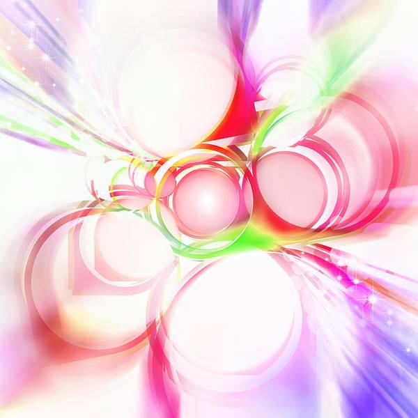 Rainbow Poster featuring the painting Abstract Of Circle by Setsiri Silapasuwanchai