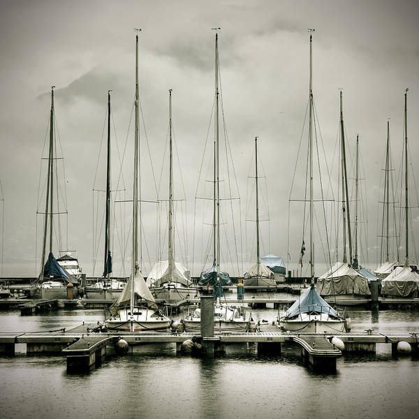 Boat Poster featuring the photograph Port On A Rainy Day by Joana Kruse