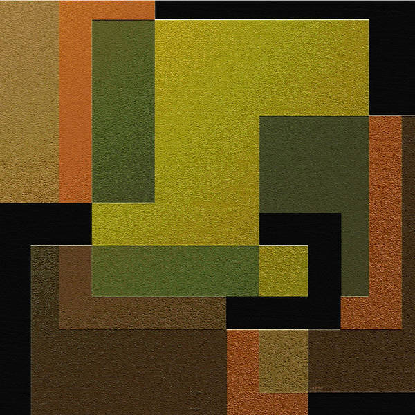 Abstract Art Poster featuring the painting Strength by Ely Arsha
