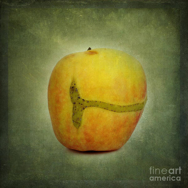 Texture Poster featuring the photograph Textured Apple by Bernard Jaubert