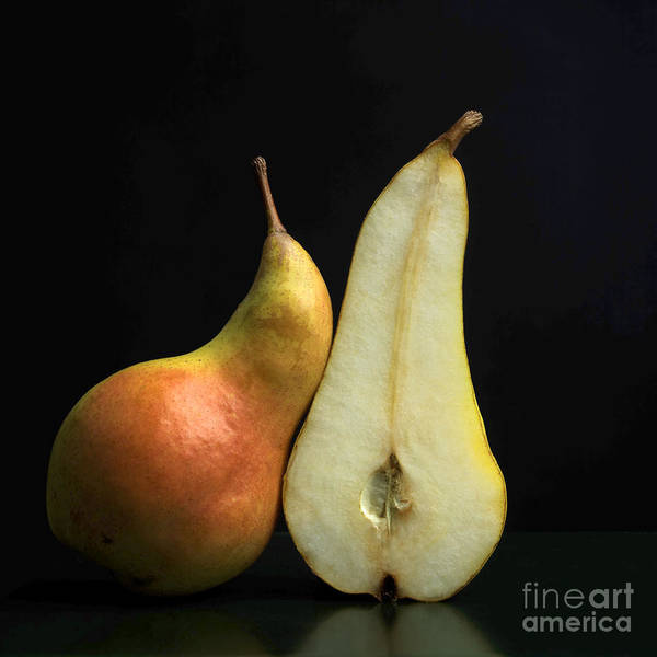 Studio Shot Poster featuring the photograph Pears by Bernard Jaubert