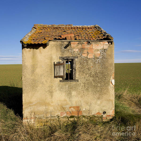 Window Poster featuring the photograph Aged Hut In Auvergne. France by Bernard Jaubert