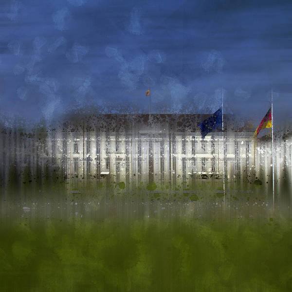 Square Poster featuring the photograph City-art Berlin Bellevue by Melanie Viola