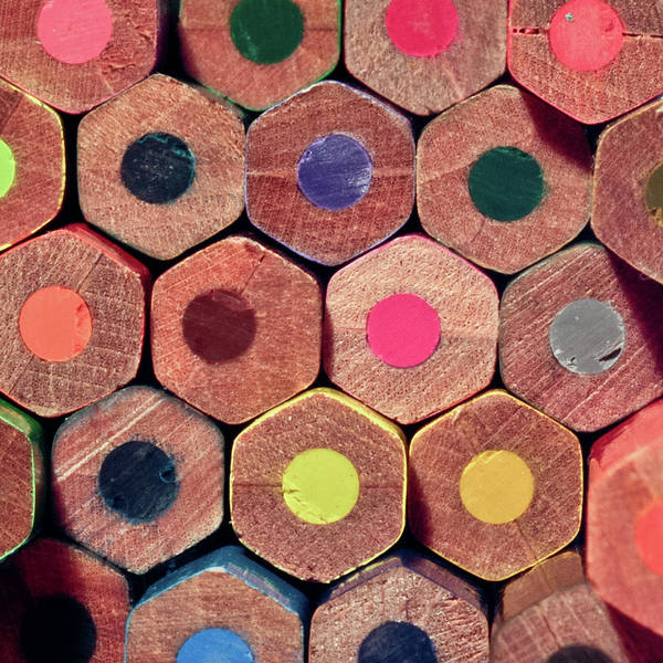 Square Poster featuring the photograph Colorful Painting Pencils by Erdem Civelek visual