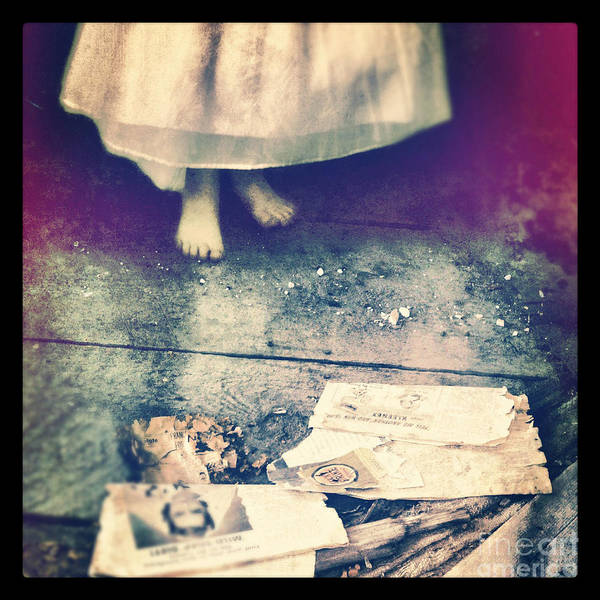 Room Poster featuring the photograph Girl In Abandoned Room by Jill Battaglia