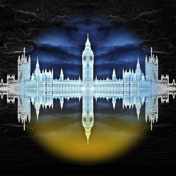 London Poster featuring the digital art House Of Horror by Sharon Lisa Clarke