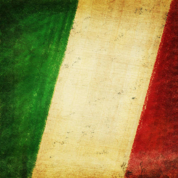 Antique Poster featuring the photograph Italy Flag by Setsiri Silapasuwanchai