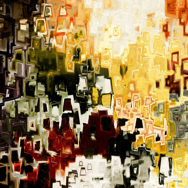 Abstract Poster featuring the painting Jesus Christ A Man Of Sorrows by Mark Lawrence