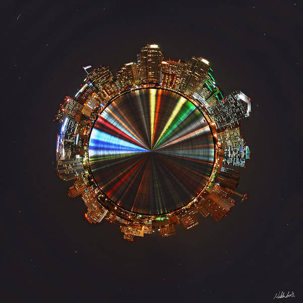 San Diego Poster featuring the photograph Planet Wee San Diego California By Night by Nikki Marie Smith