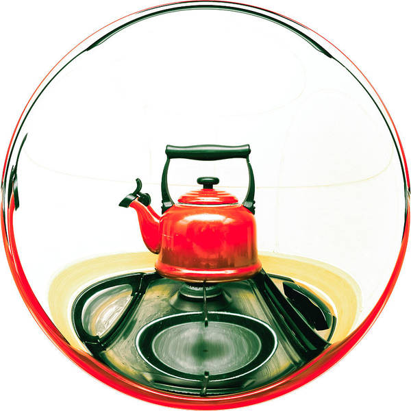 Appliance Poster featuring the photograph Red Kettle by Tom Gowanlock