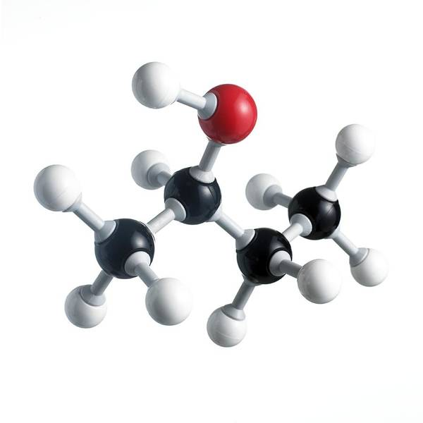 Artwork Poster featuring the photograph Sec-butanol Molecule by