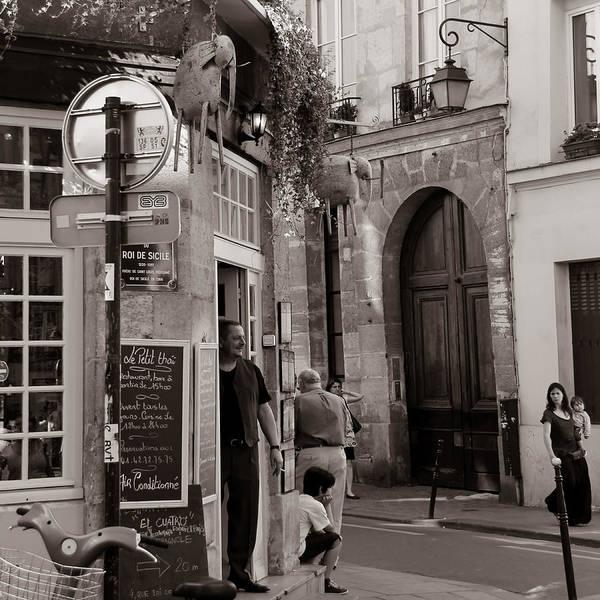 Paris Poster featuring the photograph Vintage Paris1 by Andrew Fare
