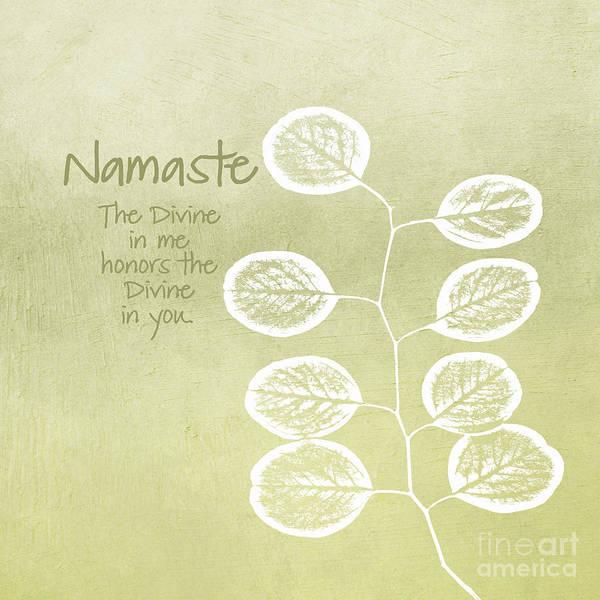 Namaste Poster featuring the mixed media Namaste by Linda Woods