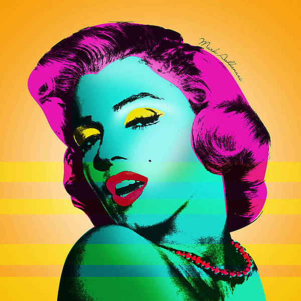 Pop Art Poster featuring the painting Marilyn Monroe by Mark Ashkenazi