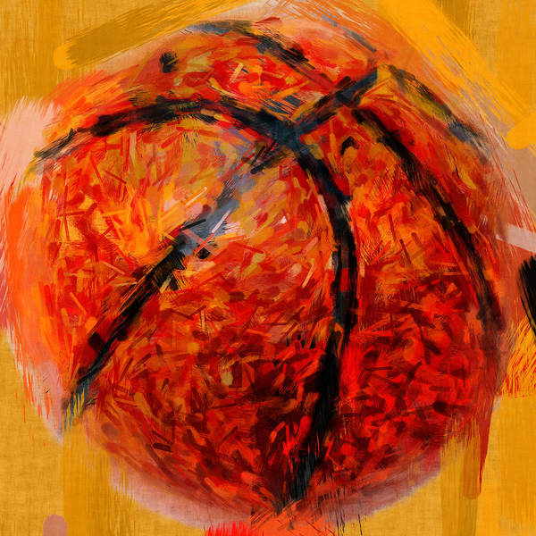 Basketball Poster featuring the photograph Abstract Basketball by David G Paul