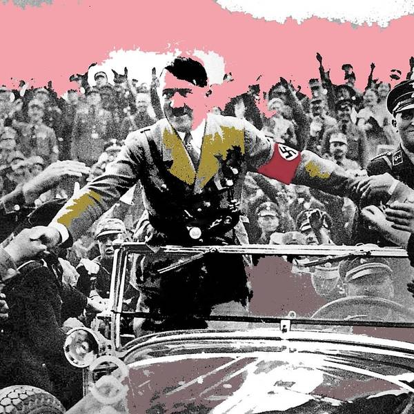 adolf hitler riding in mercedes nuremberg circa 1933 2015 poster by david lee guss. Black Bedroom Furniture Sets. Home Design Ideas