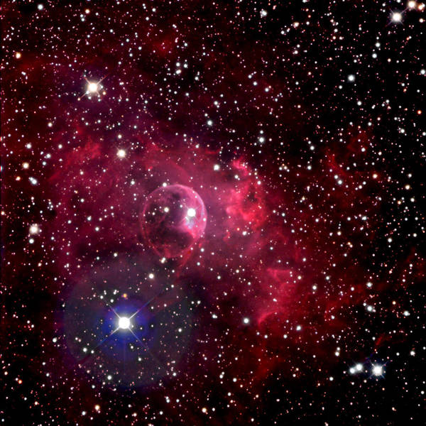 Astronomy Poster featuring the photograph Bubble Nebula by Jim DeLillo