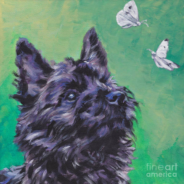 Cairn Terrier Poster featuring the painting Cairn Terrier by Lee Ann Shepard
